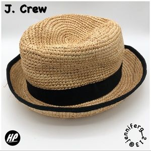 J. CREW FEDORA RAFFIA STRAW HAT